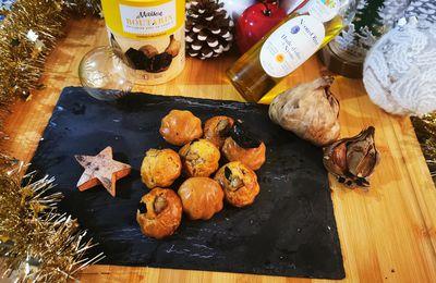 Bouchée canard, ail noir et huile d'olive