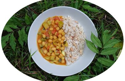 Curry aux courgettes & pois chiches - IG Bas