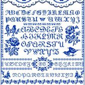 Free Cross Stitch Patterns by EMS Design. Free Project 2008 - The Rose Sampler (Part 4).