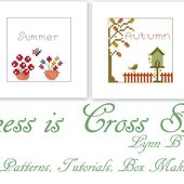 Happiness is Cross Stitching : Happy New Year and new Spring design.