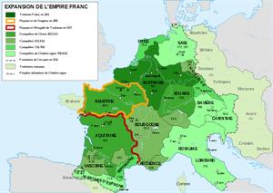 Localisation de la Neustrie à l'époque mérovingienne puis carolingienne
