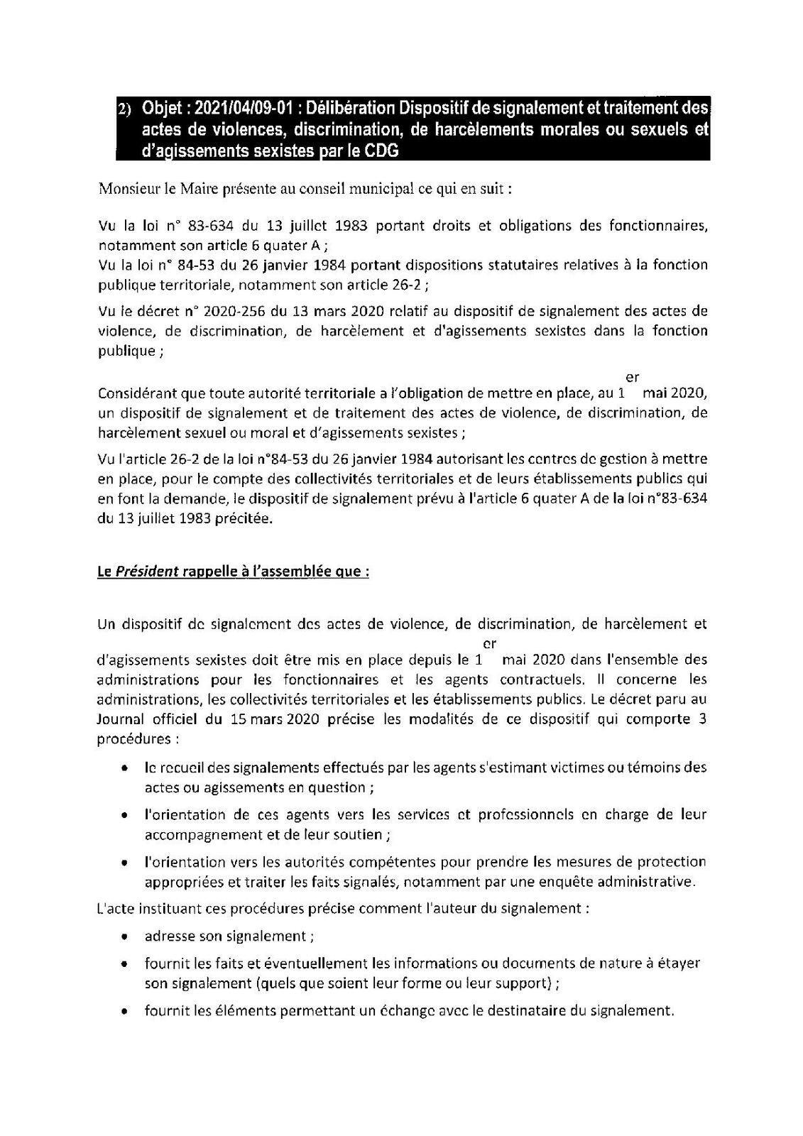 Conseil municipal : compte-rendu de la réunion du 9 avril 2021