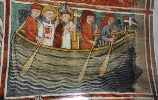 Le surprenant récit du voyage de Saint Grat en Terre-Sainte dans la chapelle peinte de Vulmix à Bourg-Saint-Maurice