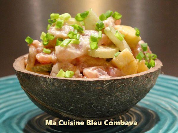 Tartare de Thon aux Bilimbis et à la Banane, Lait de Coco Curry