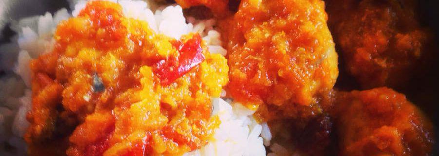 Poulet au curry au cookeo prêt en moins de 30 minutes !
