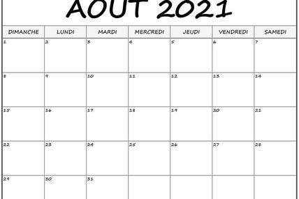 Activités photo du mois d'août 2021