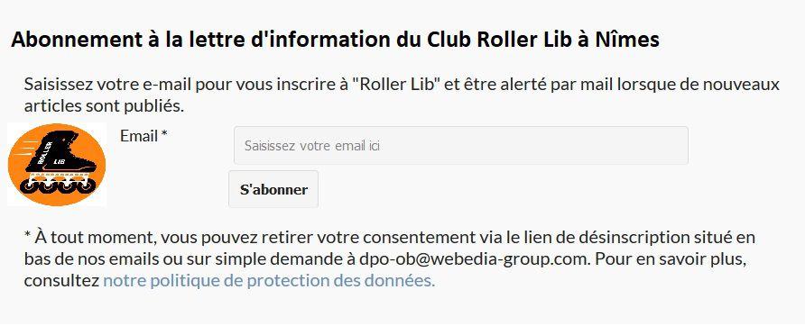 Roller Lib Nîmes, contact, club sport, plein air, nimes, Gard