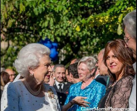 Playing for HR the Queen Elizabeth II, 2014 in Paris.
