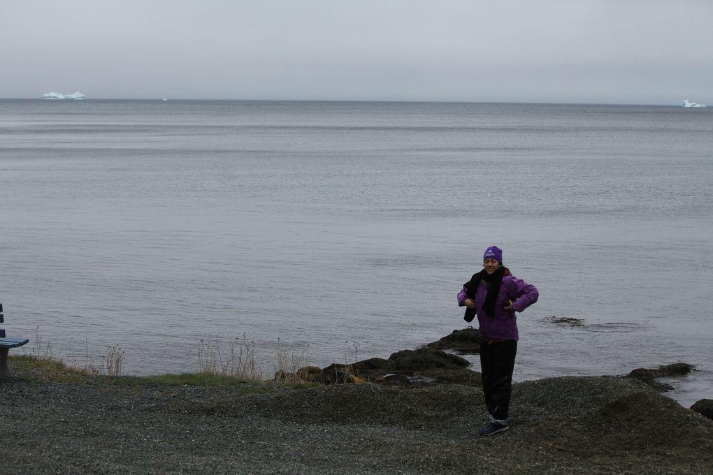 Super excitées à la vue de nos premiers icebergs