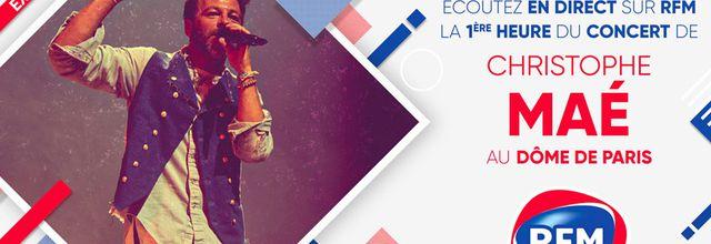 La première heure du concert de Christophe Maé au Dôme de Paris à vivre en direct ce soir sur RFM