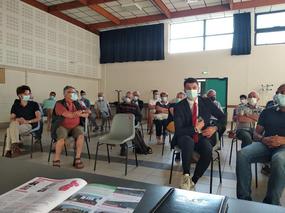 15 juin - Réunion publique des candidats Finistère & Solidaires à Saint-Thégonnec-Loc-Eguiner (Photos Corentin Derrien)