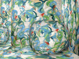 Peinture de Nathalie Marmey, et composition numérique d'après cette peinture (cliquez pour bien voir).