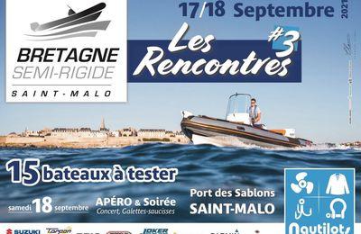 15 bateaux semi-rigide à tester ! le 17/18 septembre 2021 chez BRETAGNE SEMI-RIGIDE