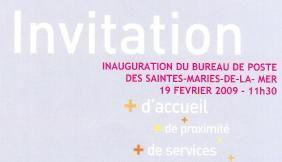 Inauguration de la Poste rénovée des Saintes Maries de la Mer