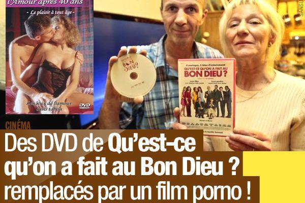 Des DVD de Qu'est-ce qu'on a fait au Bon Dieu ? remplacés par un film porno ! #fail