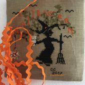 L'albero stregato. Halloween free pattern.