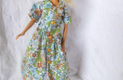 Robe chemisier longue pour Barbie