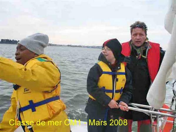 Photos de la classe de mer de CM1. Mars 2008.