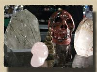 Les Crânes exposés au Chalet Blanc