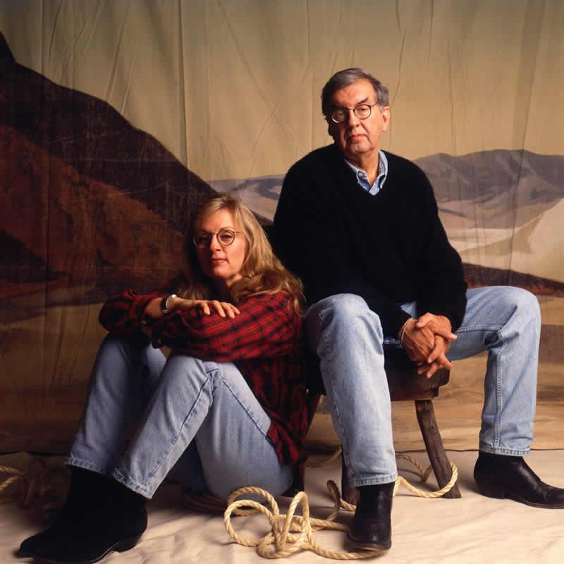 Larry McMurtry and Diana Ossana.Ann Summa/Getty