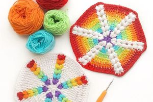 Crochet : Hexagone 11 & 12