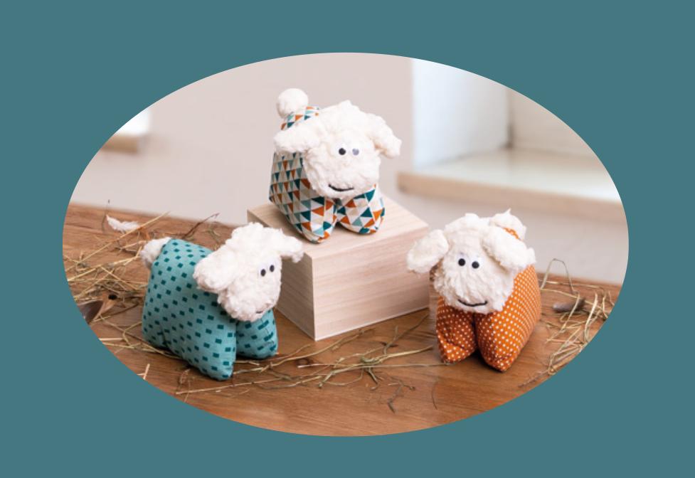 Patron et tutoriels gratuits doudou mouton