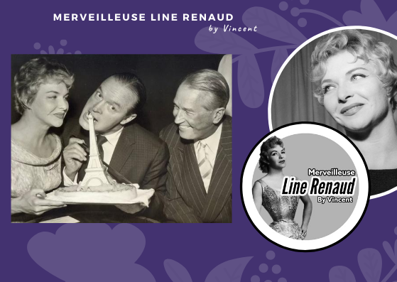PHOTOS: Line Renaud, Bob Hope et Maurice Chevalier