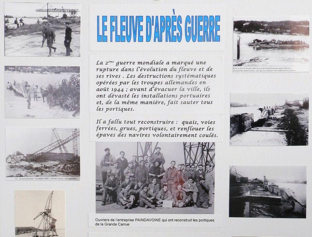 Le samedi 21 septembre avait lieu à Grand-Couronne la fête des associations. Dans ce cadre la société d'histoire a présenté une exposition, avec de nombreux documents et photos du passé de notre commune, appelée : l'eau, la ville, la forêt.