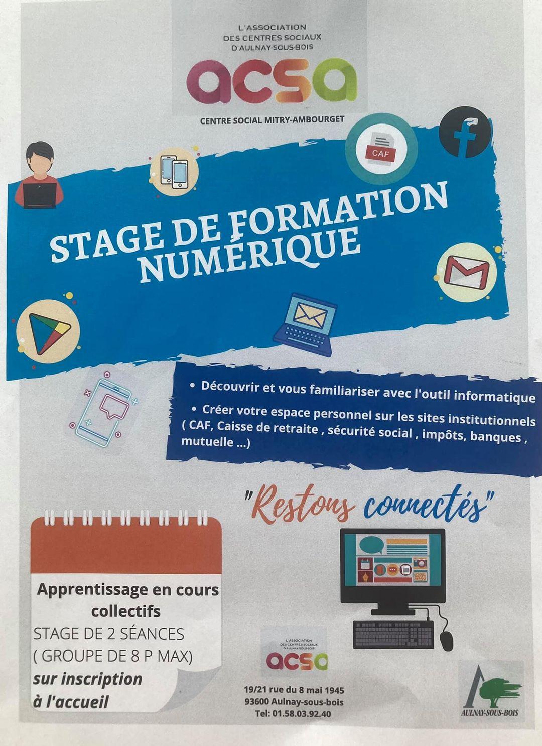 Des stages numériques à Aulnay-sous-Bois