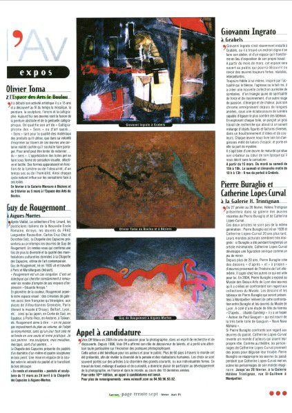 Pour voir tous les artistes venus exposer à l'EDA, aller à ARTISTES EDA (colonne ci-contre) sous ARTICLES RECENTS
