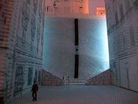 """Exposition et rendu des travaux de l'atelier """"être en ville"""" - 2010.  Projet d'étudiants pour la place de la vieille charité à Marseille - Le parcours bleu - 2010.  Projet d'étudiants pour la place Sadi Carnot à Marseille - Le parcours bleu - 2010."""