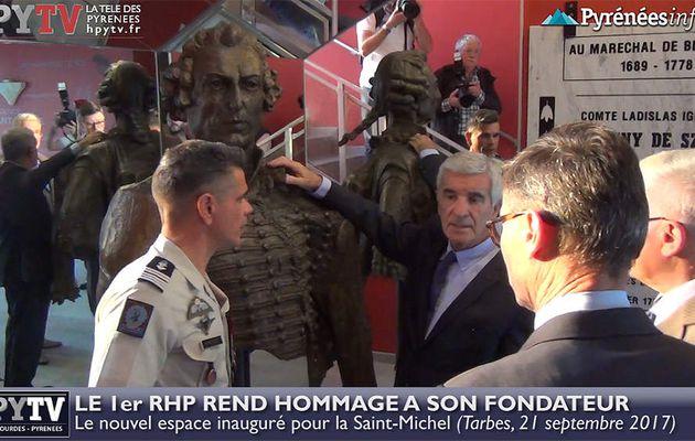 Le 1er RHP rend hommage à son fondateur (21 septembre 2017) | HPyTv Tarbes