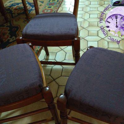 Du neuf avec du vieux ou comment j'ai retapissé mes chaises