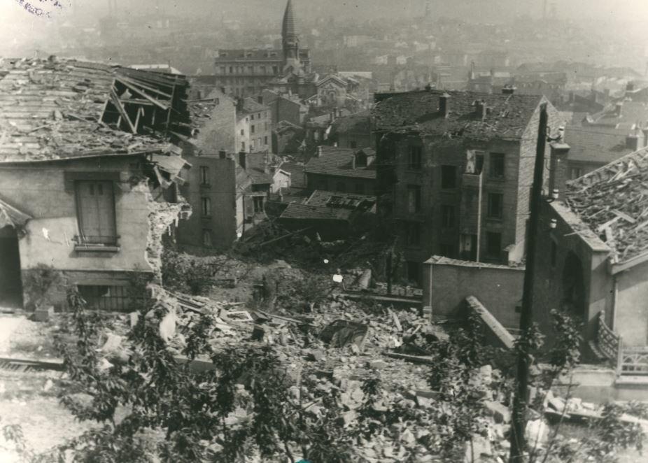 Saint-Etienne bombardée - 26 mai 1944