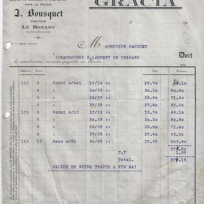 Factures et vieux papiers du Boulou