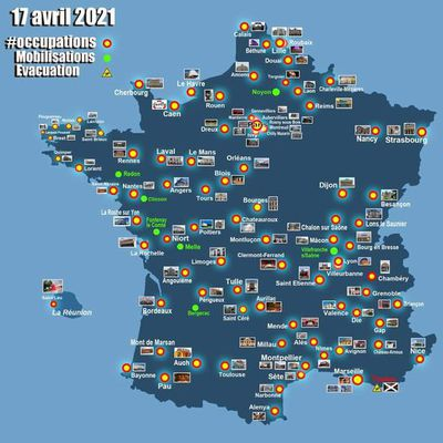 100 occupations, samedi 17 avril à 10H10