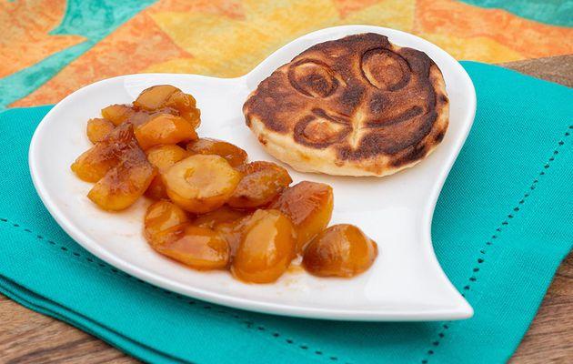 Pancakes aux mirabelles et au sirop d'érable
