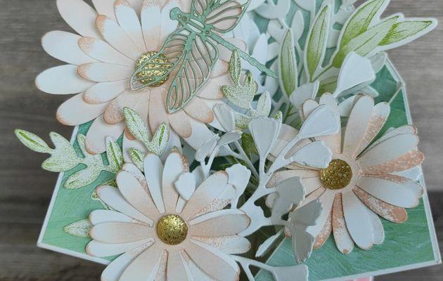 Blog hop des sweets ladybirds : Carte à explosion fleurie