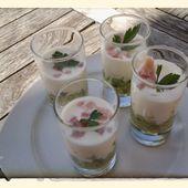 Verrine de concombre au citron et fromage blanc au thermomix - La cuisine de poupoule