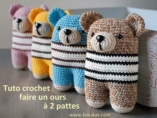 Faire un ours au crochet, tutos