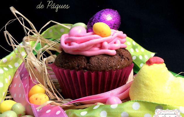 Cupcake chocolat de Pâques glacage mascarpone