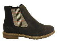 Boots RIEKER. réference : 71072, noir, brun ou bleu
