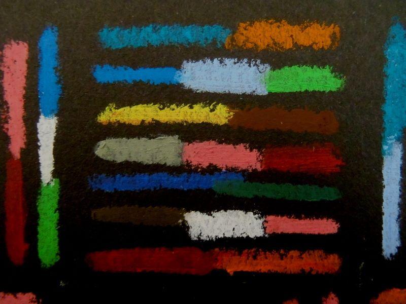 ADN - Pastel à l'huile et papier découpé