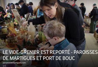LE VIDE-GRENIER EST REPORTÉ