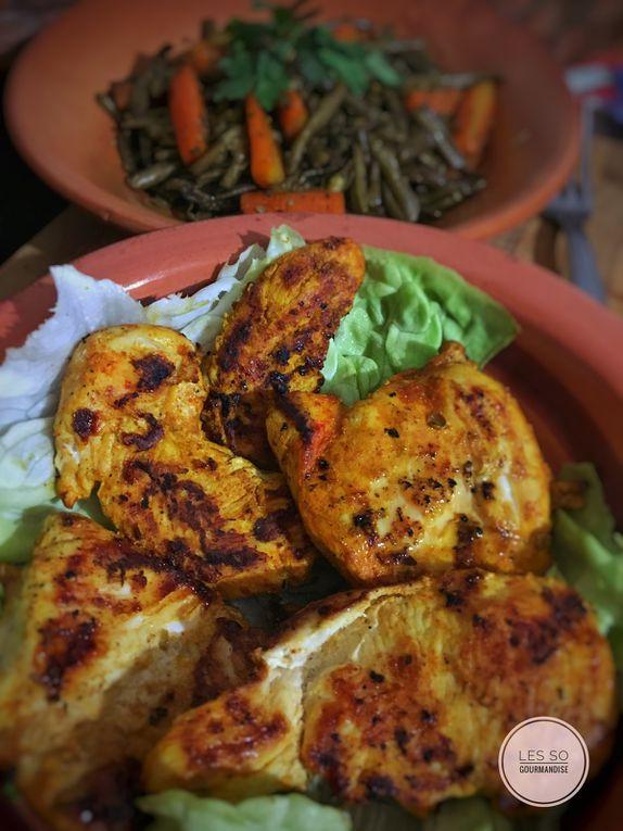 Filet de poulet Tandoori et ses légumes sautés