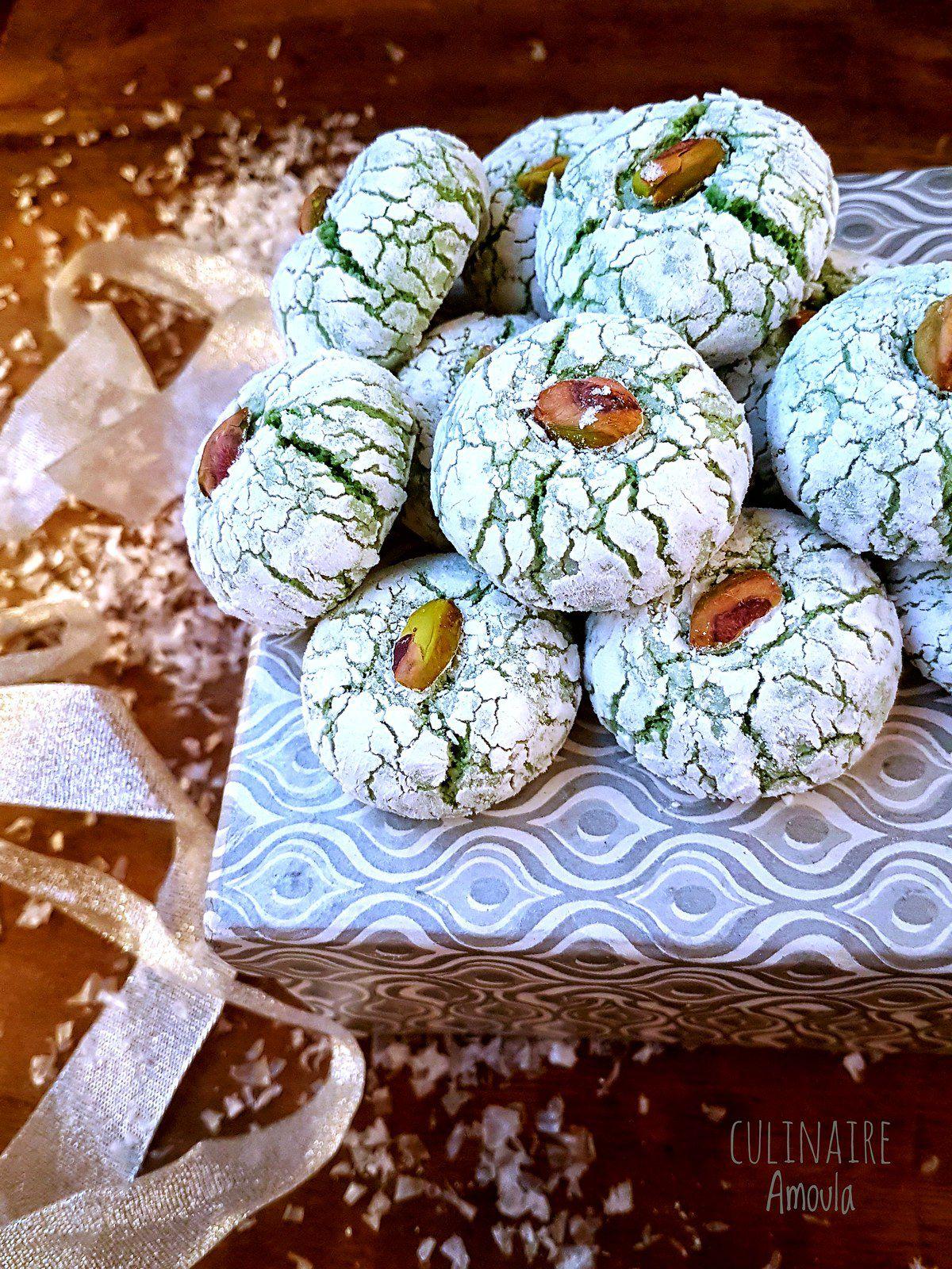 Amaretti moelleux à la pistache