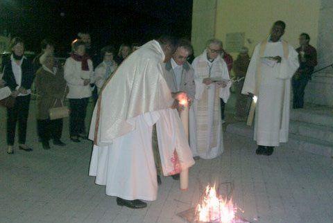 St André les Alpes  : Veillée de Pâques
