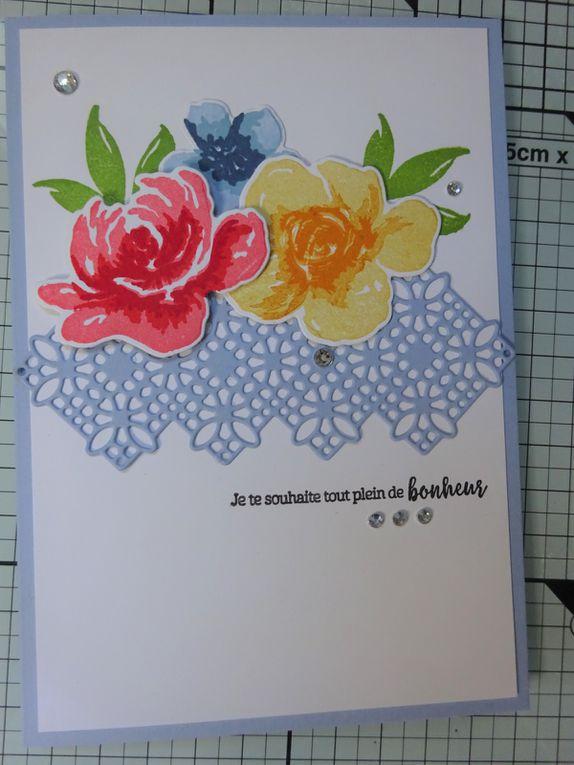 [Stampin'Up!®] exemple de carte avec le lot Plein de Bonheur