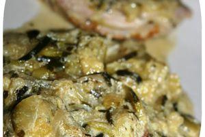 Roti de dinde aux courgettes