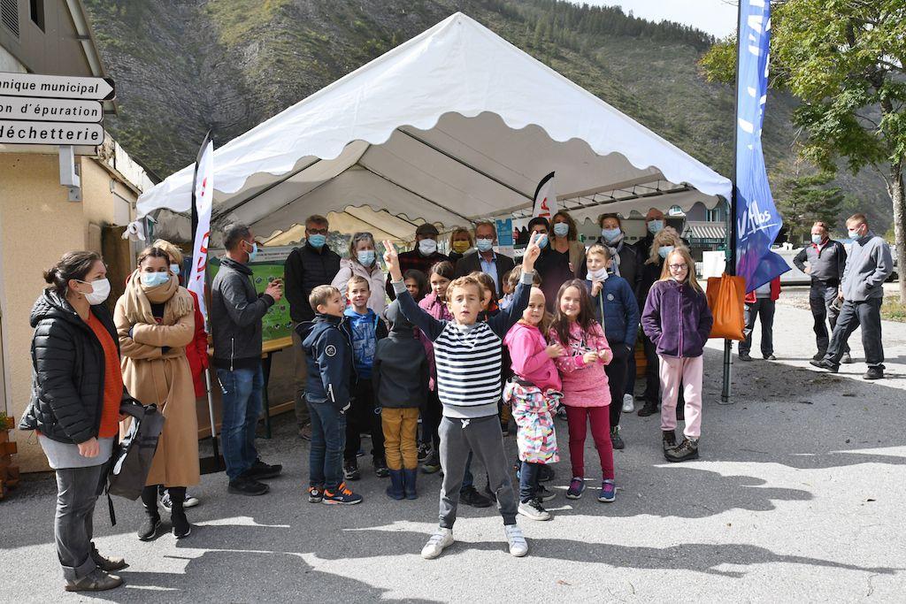 Val d'Allos, Visite de la station d'épuration